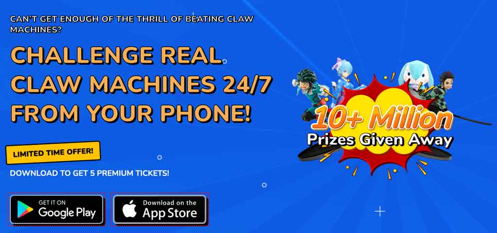 real prize claw machine app canada